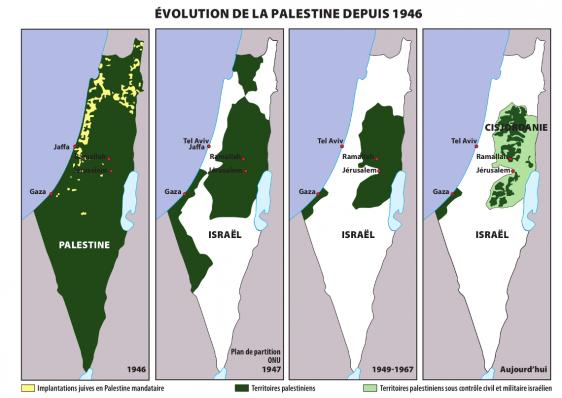 Carte et repères sur la Palestine - ritimo