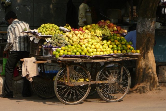 Marchand de fruits-New Delhi, India